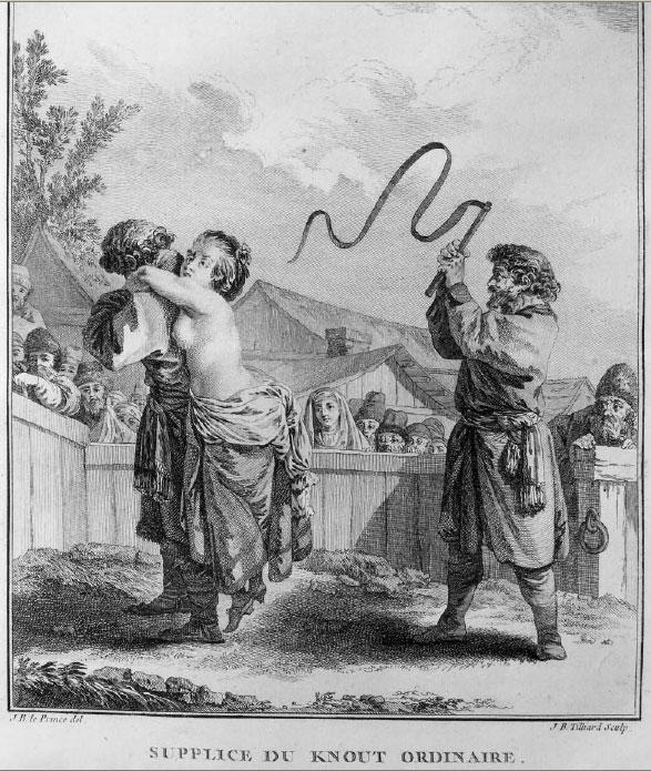 Гравюра из книги Жана д'Отроша Путешествие в Сибирь, 1768