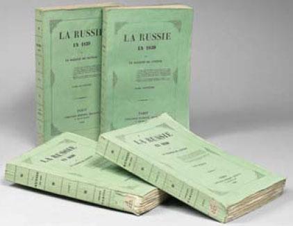 Певое издание книги маркиза де Кюстина 1843