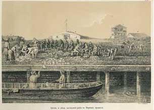 Литография Гундризера из кнги Баэра Рисунки к исследованию каспийского рыболовства