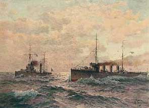 Рисунок Ганзена из книги Российский императорский флот