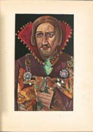 Иллюстрация Бориса григорьева из книги ЛИки России