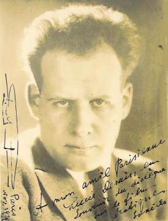 Автограф Сергея Эйзенштейна